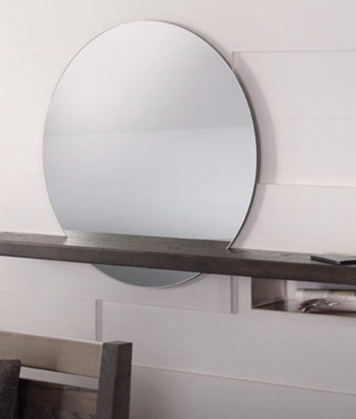 trica halo mirror shelf beyondblue interiors raleigh durham