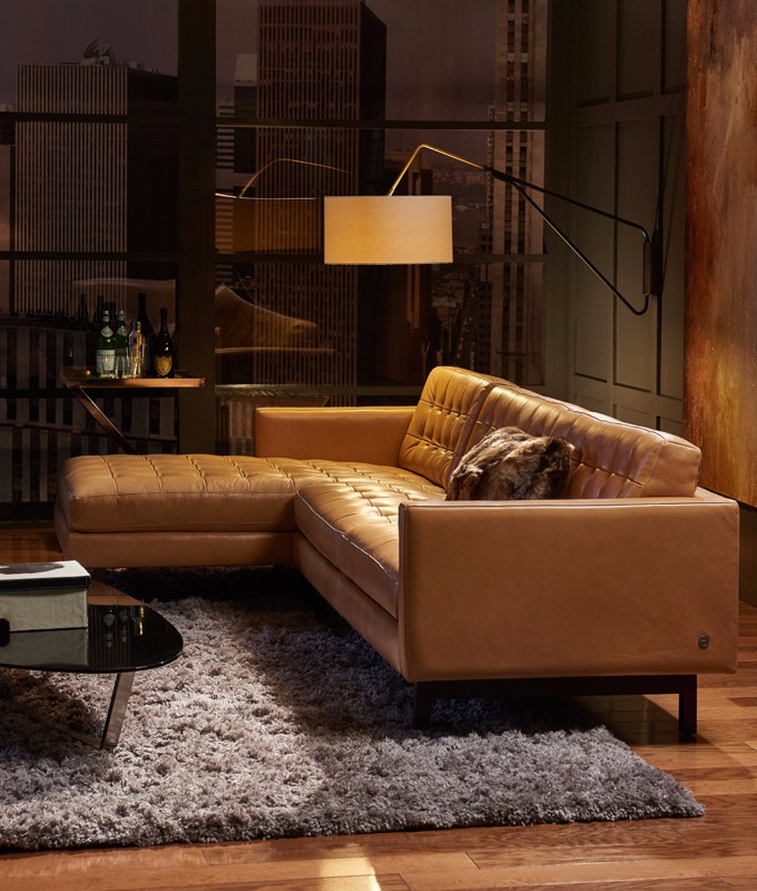 american leather parker sectional in room setting - American Leather Sofa