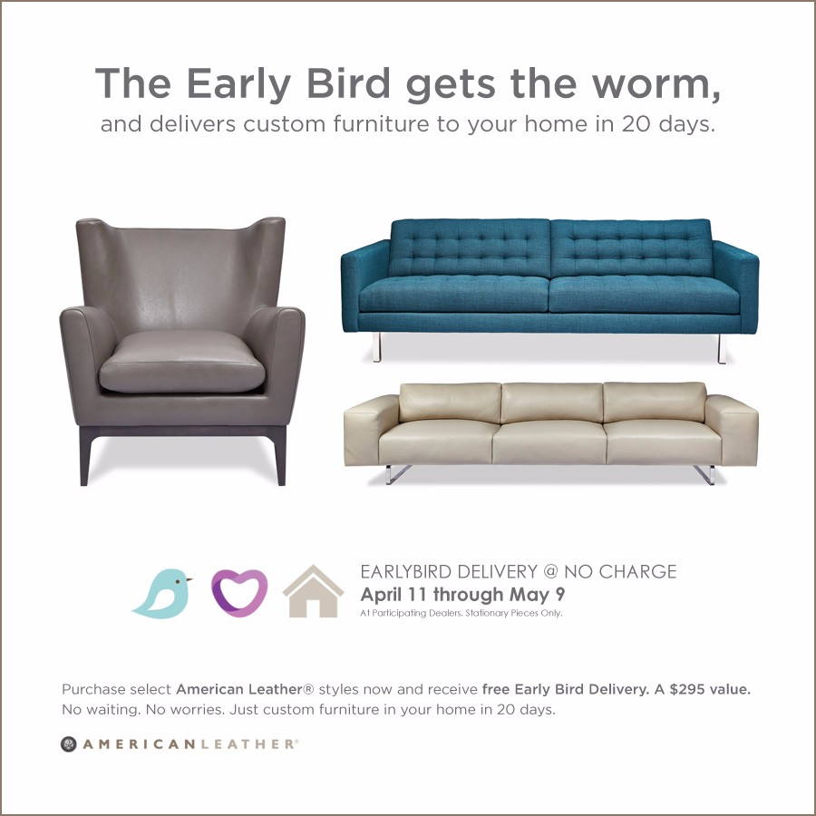 American Leather Early Bird Special!!! - BeyondBlue Interiors ...