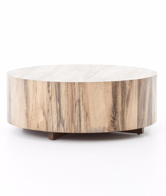 Hudson Coffee Table: Four Hands Hudson Round Coffee Table