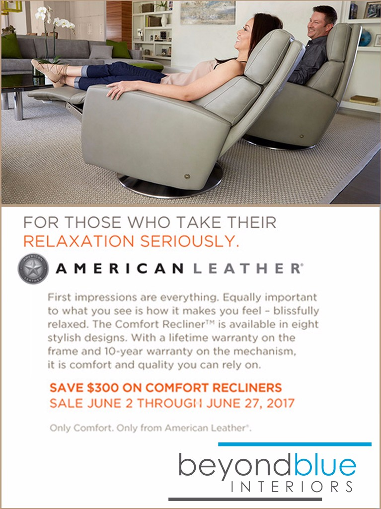 American Leather Recliner Sale Summer 2017 C